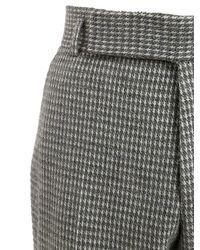 Z Zegna - Gray 19cm Wool Blend Houndstooth Pants for Men - Lyst