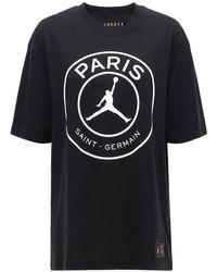 """Nike Black T-shirt Aus Baumwolle """"jordan Psg"""""""