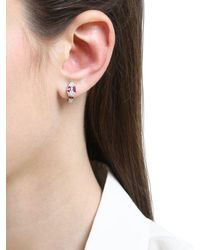 Apm Monaco - Multicolor Red Kaa Hoop Earrings - Lyst