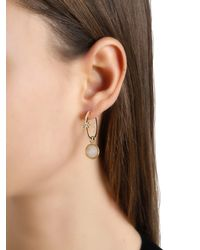 Apm Monaco - Metallic Star Earrings With Mother Of Pearl Charm - Lyst