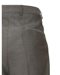 メンズ Givenchy フォーマルウールパンツ 20cm Gray