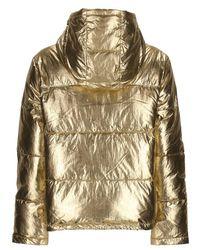 Calvin Klein ナイロンパファージャケット Metallic