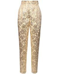 Dolce & Gabbana ラメジャカードパンツ Metallic