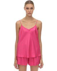 Underprotection Pink Saga Satin Pajama Top
