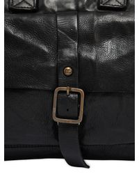 Campomaggi Black Vintage Effect Leather Briefcase for men