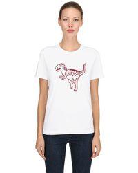 COACH White T-Shirt mit grafischem Print