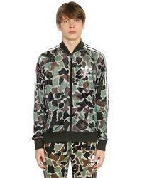 Adidas Originals Multicolor Sst Camo Printed Track Jacket for men