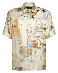 メンズ Stella McCartney プリントシルクシャツ Multicolor