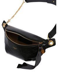 Riñonera De Piel Craqueada Givenchy de color Black