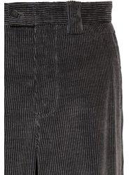 メンズ Giorgio Armani 14cm コットン&カシミア コーデュロイパンツ Gray