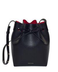 Mansur Gavriel Mini サフィアーノバケットバッグ Black