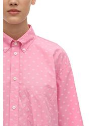 Balenciaga Pink Oversized Hemd Aus Baumwollpopeline