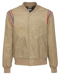 Burberry Natural Heritage Stripe Tech Bomber Jacket for men