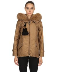 Peuterey Brown Tse Parka Down Jacket W/ Fur