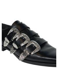 Zapatos Western De Piel 20mm DSquared² de hombre de color Black