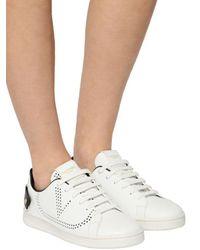 Valentino Multicolor 20mm Hohe Ledersneakers Mit Netzlogo