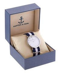KAPTEN & SON Multicolor 40mm Sail Steel Watch for men