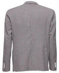 LC23 Gray Check Wool Single Breasted Blazer for men