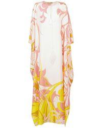 Emilio Pucci シルクツイルカフタンドレス Multicolor