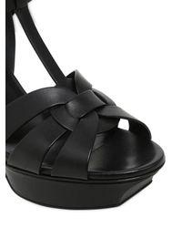 Saint Laurent - Black 105mm Tribute Leather Sandals - Lyst