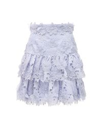 Zimmermann The Lovestruck レースミニスカート Blue