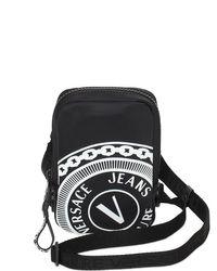 メンズ Versace Jeans ナイロンクロスボデバッグ Black