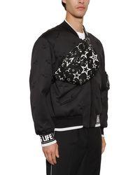 Dolce & Gabbana Gürteltasche Aus Nylon Mit Druck in Black für Herren