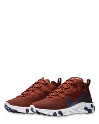 Nike React Element 55 スニーカー Brown