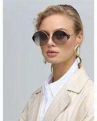 Linda Farrow Multicolor Carousel Round Sunglasses