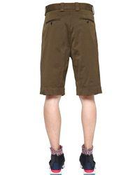 Marni Brown Stretch Cotton Bermuda Shorts for men