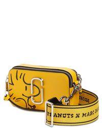"Marc Jacobs Yellow Schultertasche Aus Leder ""peanuts Snapshot"""