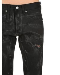 """ALEXANDER DIGENOVA Black Enge Jeans Aus Denim """"ode To Strip Rock"""""""