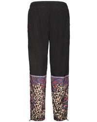 メンズ Versace Jeans Leopard ナイロンパンツ Black