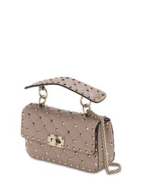 Valentino Garavani Multicolor Small Spike Leather Shoulder Bag