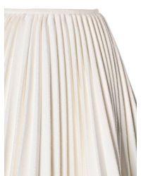 Moncler Gamme Rouge Black Plisse Wool & Cashmere Skirt