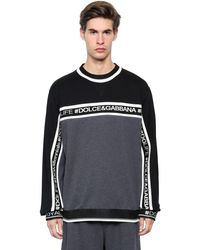 Dolce & Gabbana - Black Hashtags Cotton Sweatshirt for Men - Lyst