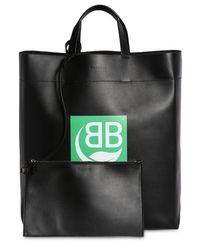 "Balenciaga Black Tote Aus Leder Mit Logodruck ""md Market"""