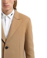 Neil Barrett | Natural Wool Cloth Single Breast Skinny Coat for Men | Lyst