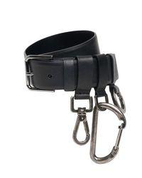 Кожаный Ремень 3cm Dolce & Gabbana для него, цвет: Black
