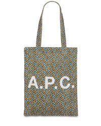 A.P.C. Multicolor Tote Aus Baumwolle Mit Logodruck