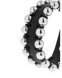 Isabel Marant - Black Leather & Ball Chain Bracelet - Lyst