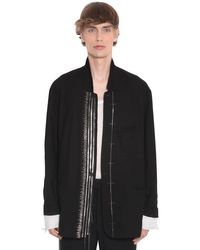 Blazer In Cotone Con Decorazioni di Haider Ackermann in Black da Uomo