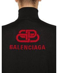 Pull-Over En Laine Col Roulé Balenciaga pour homme en coloris Black
