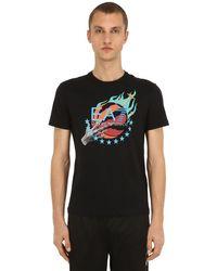 EA7 T-shirt Aus Baumwolljersey Mit Logodruck in Black für Herren