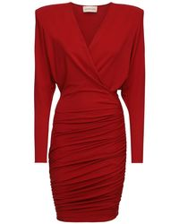 Alexandre Vauthier ストレッチジャージードレス Red