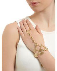 Rosantica - Metallic Soffio Spirals Hand Bracelet - Lyst
