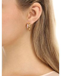 Apm Monaco - Metallic Uraeus Hoop Earrings With Ruby - Lyst