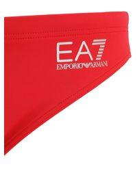 メンズ EA7 ロゴナイロン水着 Red