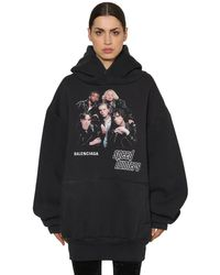 Balenciaga Black Kapuzensweatshirt Aus Baumwolle