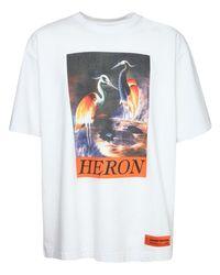メンズ Heron Preston オーバーサイズコットンジャージーtシャツ White